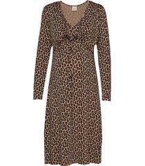 leo wrap dress knälång klänning brun boob