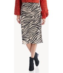 sanctuary women's everyday midi skirt in color: zebra size xs from sole society