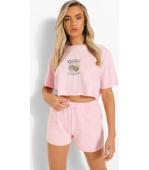 kort tennis t-shirt, light pink