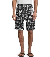 frank printed denim shorts