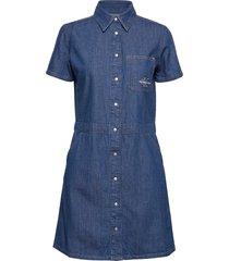 short sleeve desert diner dress kort klänning blå calvin klein jeans