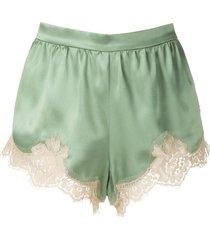 dolce & gabbana floral lace insert shorts - green