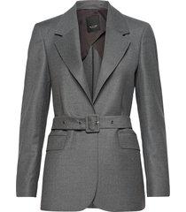 1698 - ivy belt 1/2 blazers business blazers grå sand