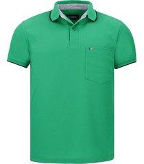 camiseta tipo polo verde antioquia hamer bolsillo bordado