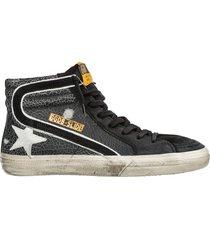 scarpe sneakers alte uomo in camoscio slide