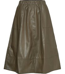 alba midi skirt knälång kjol grön soft rebels