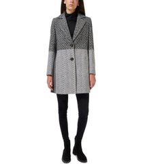 sam edelman two-tone single-breasted walker coat