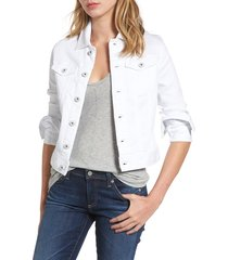 women's ag 'robyn' denim jacket, size small - white