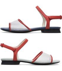 camper twins, sandali donna, rosso /bianco, misura 42 (eu), k201098-002