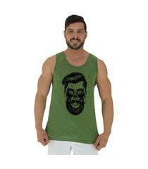 regata clássica masculina alto conceito caveira hipster nuno verde