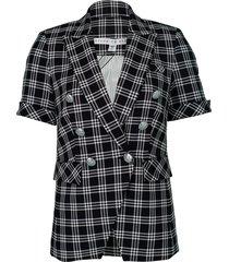 black and white jenny dickey jacket