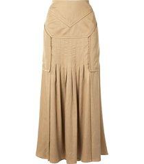 christopher esber varsha tucked skirt - brown