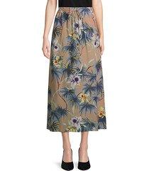 hawaiian couture silk skirt