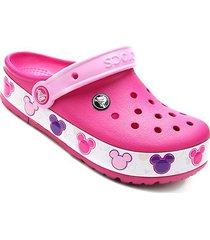 sandália crocs infantil crocslights mickey disney clog
