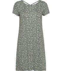 onlbera back lace up s/s dress jrs kort klänning grön only