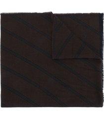 bally lightweight wool scarf - black