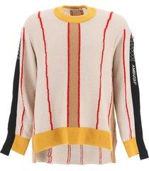 ambush color block asymmetrical sweater