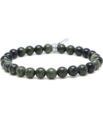 mr ettika russian serpentine stone and ox elastic bracelet