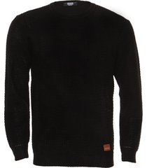 sweater negro redskin zig zag