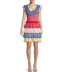 colorblock wool-blend mini dress