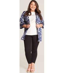 kimono corto aves azul 14