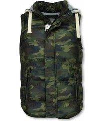 vest enos bodywarmer camouflage vest capuchon