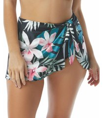 coco reef halo sarong printed tummy-control swim skirt women's swimsuit