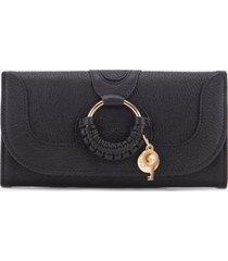 see by chloé women's hana large wallet - black