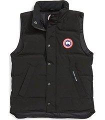kid's canada goose 'vanier' down vest, size m (10-12) - black