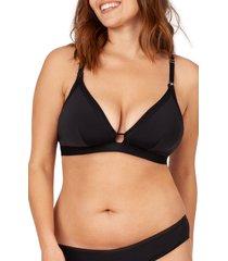 women's lively the busty maternity bralette, size 2 - black