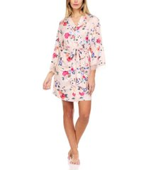 flora nikrooz collection fiona butter knit floral wrap robe