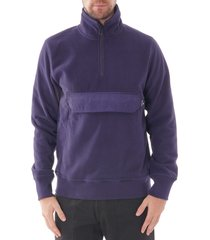 half-zip funnel neck sweatshirt - inky m2r-538t 48