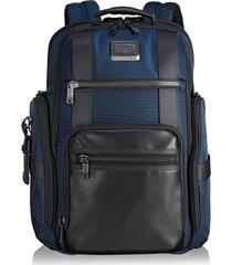 men's tumi alpha bravo sheppard deluxe backpack - blue
