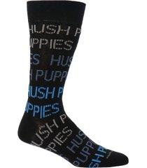 calcetín algodón logo negro hombre hush puppies
