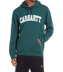 men's carhartt work in progress men's university hoodie, size medium - green