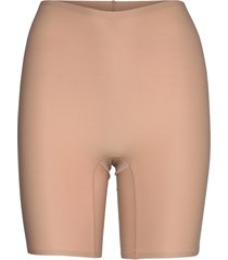 soft stretch high waist mid-thigh short shapewear underkläder beige chantelle