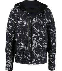 canada goose hybridge cw reflective down jacket - black