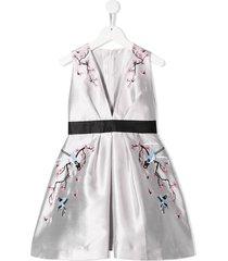 raspberry plum tara dress - silver