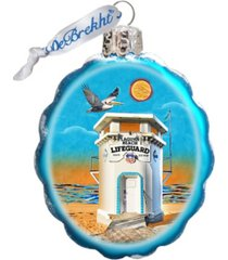 g.debrekht laguna beach tower hand painted glass ornament