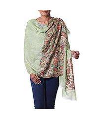wool shawl, 'fantasy flutter' (india)