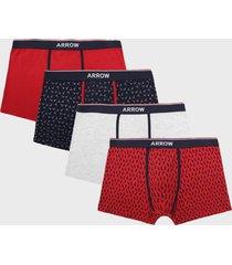 boxer 4 unidades design rojo arrow