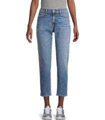 rag & bone women's dre ankle slim boyfriend jeans - blue - size 24 (0)