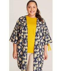 kimono floral azul 14