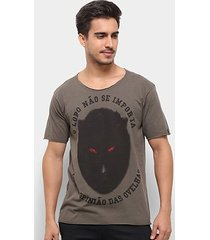 camiseta bossa brasil lobo masculina