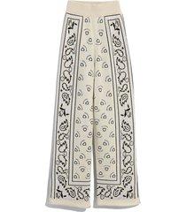 bandana print wide-leg pants