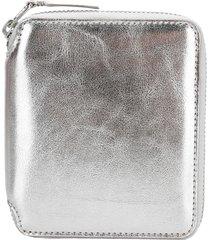 comme des garcons wallet metallic zip around wallet