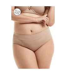 calcinha mondress lingerie básica com cós duplo bege