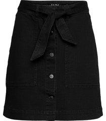 freja worker skirt wash soft black kort kjol svart ivy copenhagen