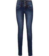 jeans elasticizzato modellante pancia-gambe-glutei slim (blu) - john baner jeanswear