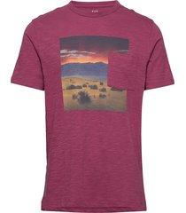 graphic pocket t-shirt t-shirts short-sleeved rosa gap
